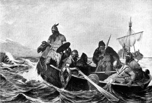 Norsemen landing